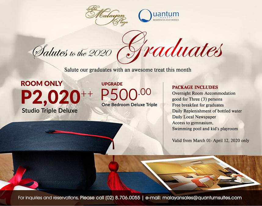 The Malayan Plaza Hotel - Graduation Promo