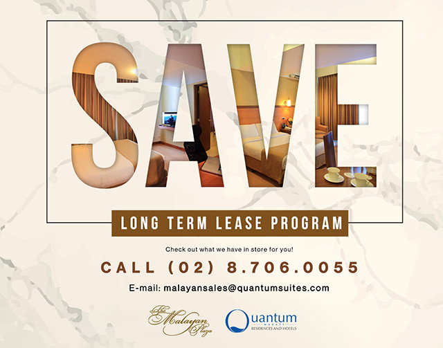 The Malayan Plaza Hotel - Long Term Lease Program
